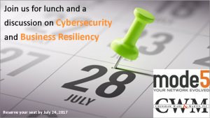 Cybersecurity and Business Resiliency
