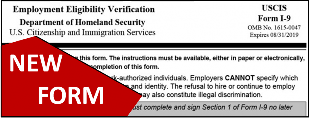 two week countdown to start using revised i-9 form - cwm law